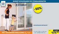 Aanbiedingen Schuifraam antraciet - Stabilotec - Geldig van 17/08/2021 tot 20/09/2021 bij Zelfbouwmarkt