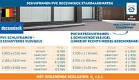 Aanbiedingen Schuiframen pvc deceuninck standaardmaten - Deceuninck - Geldig van 17/08/2021 tot 20/09/2021 bij Zelfbouwmarkt