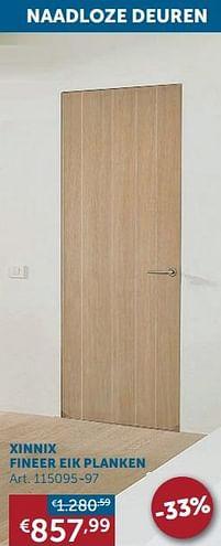 Aanbiedingen Xinnix fineer eik planken - Xinnix - Geldig van 17/08/2021 tot 20/09/2021 bij Zelfbouwmarkt