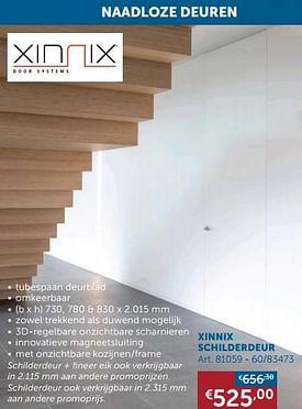 Aanbiedingen Xinnix schilderdeur - Xinnix - Geldig van 17/08/2021 tot 20/09/2021 bij Zelfbouwmarkt