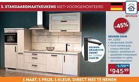 Aanbiedingen Keuken odin -  - Geldig van 17/08/2021 tot 20/09/2021 bij Zelfbouwmarkt