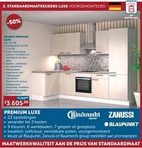 Aanbiedingen Keuken premium luxe -  - Geldig van 17/08/2021 tot 20/09/2021 bij Zelfbouwmarkt