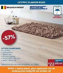 Aanbiedingen Lvt-pvc plank rigid - Uniclic - Geldig van 17/08/2021 tot 20/09/2021 bij Zelfbouwmarkt