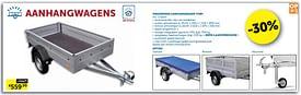 Aanbiedingen Ongeremde aanhangwagen toby -  - Geldig van 17/08/2021 tot 20/09/2021 bij Zelfbouwmarkt