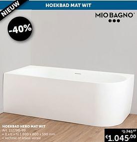 Aanbiedingen Hoekbad hero mat wit -  - Geldig van 17/08/2021 tot 20/09/2021 bij Zelfbouwmarkt