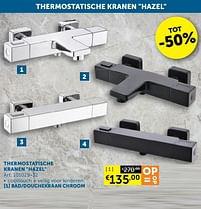 Aanbiedingen Thermostatische kranen hazel bad-douchekraan chroom - Mio Bagno - Geldig van 17/08/2021 tot 20/09/2021 bij Zelfbouwmarkt