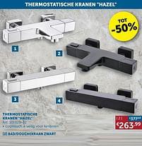 Aanbiedingen Thermostatische kranen hazel bad-douchekraan zwart - Mio Bagno - Geldig van 17/08/2021 tot 20/09/2021 bij Zelfbouwmarkt