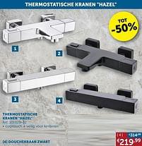 Aanbiedingen Thermostatische kranen hazel douchekraan zwart - Mio Bagno - Geldig van 17/08/2021 tot 20/09/2021 bij Zelfbouwmarkt
