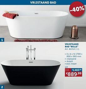 Aanbiedingen Vrijstaand bad belle -  - Geldig van 17/08/2021 tot 20/09/2021 bij Zelfbouwmarkt