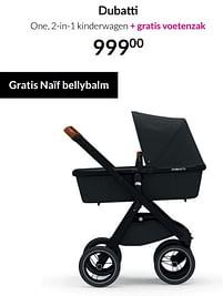 Aanbiedingen Dubatti one, 2-in-1 kinderwagen - Dubatti - Geldig van 17/08/2021 tot 20/09/2021 bij Babypark