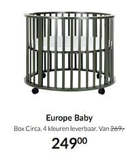 Aanbiedingen Europe baby box circa - Europe baby - Geldig van 17/08/2021 tot 20/09/2021 bij Babypark