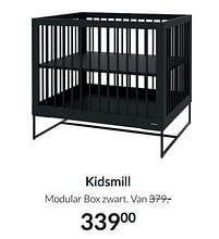 Aanbiedingen Kidsmill modular box zwart - Kidsmill - Geldig van 17/08/2021 tot 20/09/2021 bij Babypark