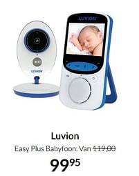 Aanbiedingen Luvion easy plus babyfoon - Luvion - Geldig van 17/08/2021 tot 20/09/2021 bij Babypark