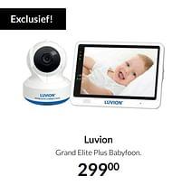 Aanbiedingen Luvion grand elite plus babyfoon - Luvion - Geldig van 17/08/2021 tot 20/09/2021 bij Babypark