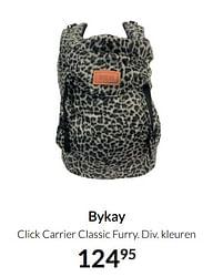 Aanbiedingen Bykay click carrier classic furry - Bykay - Geldig van 17/08/2021 tot 20/09/2021 bij Babypark