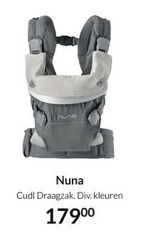 Aanbiedingen Nuna cudl draagzak - Nuna - Geldig van 17/08/2021 tot 20/09/2021 bij Babypark