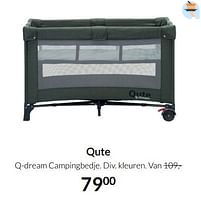 Aanbiedingen Qute q-dream campingbedje - Qute - Geldig van 17/08/2021 tot 20/09/2021 bij Babypark