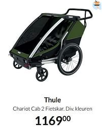 Aanbiedingen Thule chariot cab 2 fietskar - Thule - Geldig van 17/08/2021 tot 20/09/2021 bij Babypark