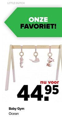 Aanbiedingen Baby gym ocean - Little Dutch - Geldig van 30/08/2021 tot 25/09/2021 bij Baby-Dump