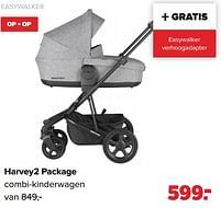 Aanbiedingen Harvey2 package combi-kinderwagen - Easywalker - Geldig van 30/08/2021 tot 25/09/2021 bij Baby-Dump