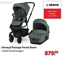 Aanbiedingen Harvey3 package forest green combi-kinderwagen - Easywalker - Geldig van 30/08/2021 tot 25/09/2021 bij Baby-Dump