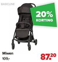 Aanbiedingen Miwen - Basicline - Geldig van 30/08/2021 tot 25/09/2021 bij Baby-Dump