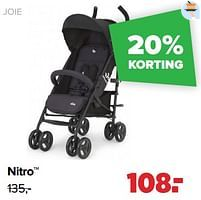 Aanbiedingen Nitro - Joie - Geldig van 30/08/2021 tot 25/09/2021 bij Baby-Dump