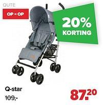 Aanbiedingen Q-star - Qute - Geldig van 30/08/2021 tot 25/09/2021 bij Baby-Dump