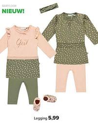 Aanbiedingen Babylook legging - Baby look - Geldig van 30/08/2021 tot 25/09/2021 bij Baby-Dump