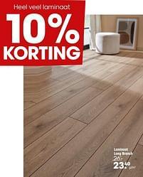 Aanbiedingen Laminaat long branch - Huismerk - Kwantum - Geldig van 20/09/2021 tot 03/10/2021 bij Kwantum