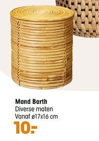 Aanbiedingen Mand barth - Huismerk - Kwantum - Geldig van 20/09/2021 tot 03/10/2021 bij Kwantum