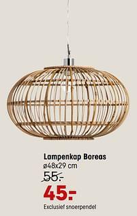 Aanbiedingen Lampenkap boreas - Huismerk - Kwantum - Geldig van 20/09/2021 tot 03/10/2021 bij Kwantum
