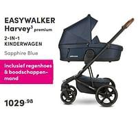 Aanbiedingen Easywalker harvey3 premium 2-in-1 kinderwagen sapphire blue - Easywalker - Geldig van 12/09/2021 tot 18/09/2021 bij Baby & Tiener Megastore