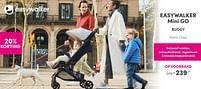 Aanbiedingen Easywalker mini go buggy soho grey - Easywalker - Geldig van 12/09/2021 tot 18/09/2021 bij Baby & Tiener Megastore