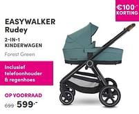 Aanbiedingen Easywalker rudey 2-in-1 kinderwagen forest green - Easywalker - Geldig van 12/09/2021 tot 18/09/2021 bij Baby & Tiener Megastore