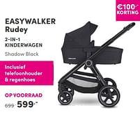 Aanbiedingen Easywalker rudey 2-in-1 kinderwagen shadow black - Easywalker - Geldig van 12/09/2021 tot 18/09/2021 bij Baby & Tiener Megastore