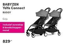 Aanbiedingen Babyzen yoyo connect buggy grijs - Babyzen - Geldig van 12/09/2021 tot 18/09/2021 bij Baby & Tiener Megastore