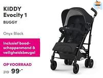 Aanbiedingen Kiddy evocity 1buggy onyx black - Kiddy - Geldig van 12/09/2021 tot 18/09/2021 bij Baby & Tiener Megastore