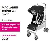 Aanbiedingen Maclaren techno xt buggy black -silver - Maclaren - Geldig van 12/09/2021 tot 18/09/2021 bij Baby & Tiener Megastore