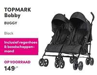 Aanbiedingen Topmark bobby buggy black - Topmark - Geldig van 12/09/2021 tot 18/09/2021 bij Baby & Tiener Megastore