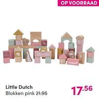 Aanbiedingen Little dutch blokken pink - Little Dutch - Geldig van 12/09/2021 tot 18/09/2021 bij Baby & Tiener Megastore