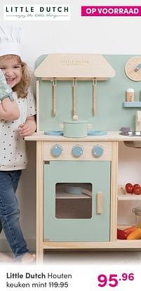 Aanbiedingen Little dutch houten keuken mint - Little Dutch - Geldig van 12/09/2021 tot 18/09/2021 bij Baby & Tiener Megastore