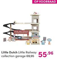 Aanbiedingen Little dutch little railway collection garage - Little Dutch - Geldig van 12/09/2021 tot 18/09/2021 bij Baby & Tiener Megastore