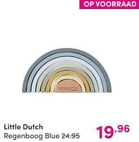 Aanbiedingen Little dutch regenboog blue - Little Dutch - Geldig van 12/09/2021 tot 18/09/2021 bij Baby & Tiener Megastore