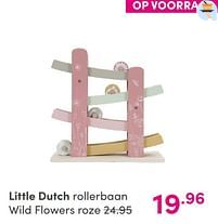Aanbiedingen Little dutch rollerbaan wild flowers roze - Little Dutch - Geldig van 12/09/2021 tot 18/09/2021 bij Baby & Tiener Megastore
