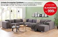 Aanbiedingen 2+hoek+2+longchair caribbean - Huismerk - Woon Square - Geldig van 13/09/2021 tot 18/09/2021 bij Woon Square