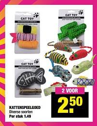 Aanbiedingen Kattenspeelgoed - Cat Toy - Geldig van 13/09/2021 tot 26/09/2021 bij Big Bazar