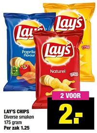 Aanbiedingen Lay's chips - Lay's - Geldig van 13/09/2021 tot 26/09/2021 bij Big Bazar