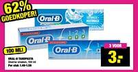 Aanbiedingen Oral-b tandpasta - Oral-B - Geldig van 13/09/2021 tot 26/09/2021 bij Big Bazar