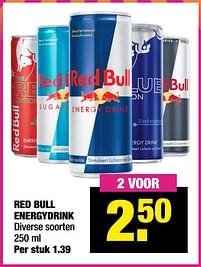 Aanbiedingen Red bull energydrink - Red Bull - Geldig van 13/09/2021 tot 26/09/2021 bij Big Bazar